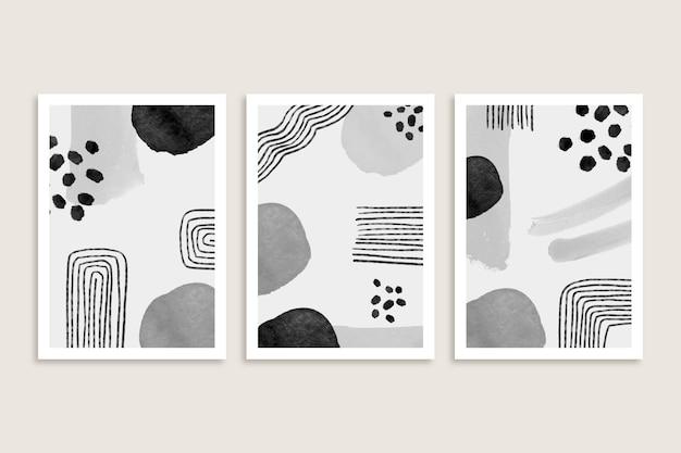Collezione di copertina dell'acquerello astratto grigio
