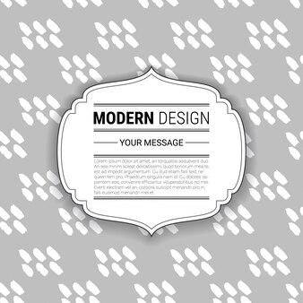 텍스트를위한 공간으로 회색과 흰색 손으로 그린 패턴