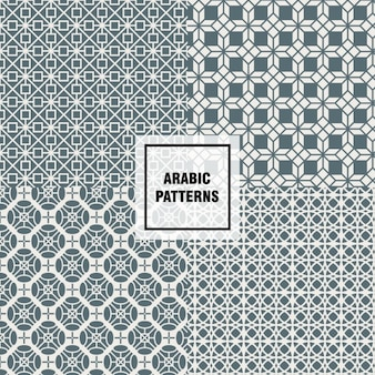 Серый арабский узор
