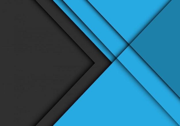 파란색 현대 미래 배경에 회색 화살표 겹침입니다. 프리미엄 벡터
