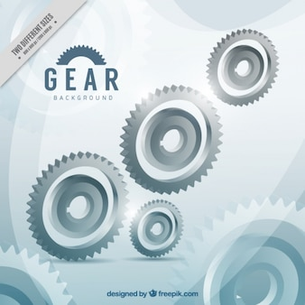 Grey background with shiny gears