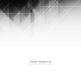 Grey and black polygonal shapes background