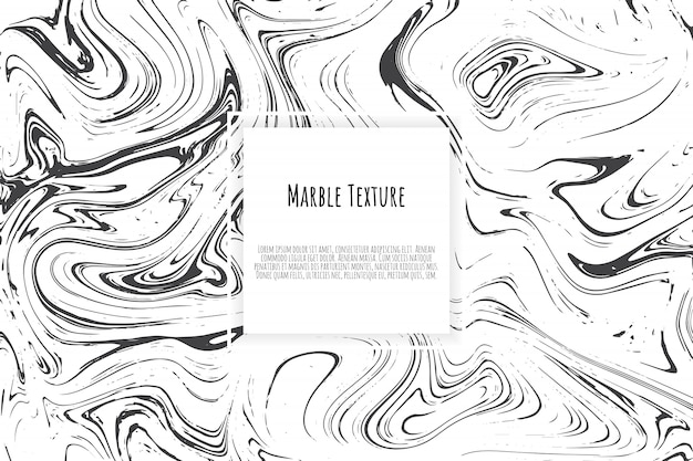 Grey, black, white marble template card
