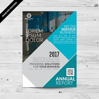 Grey and blue business brochure