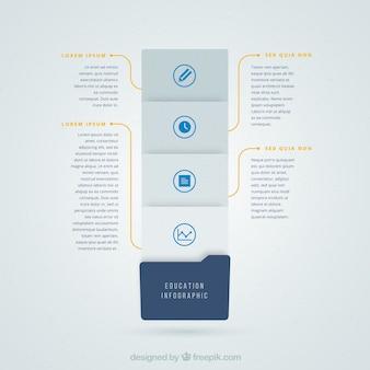 Grigio e blu infografia per l'istruzione