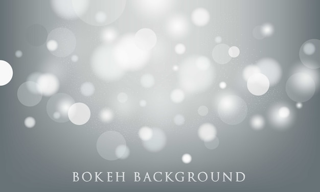 Grey bokeh background, abstract, light texture