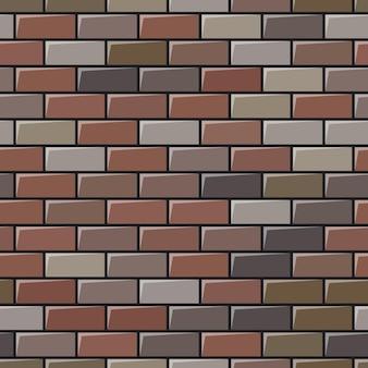 Grey brick wall texture. seamless background. vector illustration