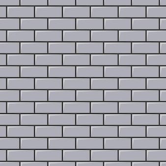 灰色のレンガの壁のテクスチャ。シームレスな背景。ベクトルイラスト