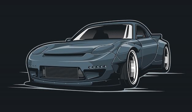 灰色の車の図
