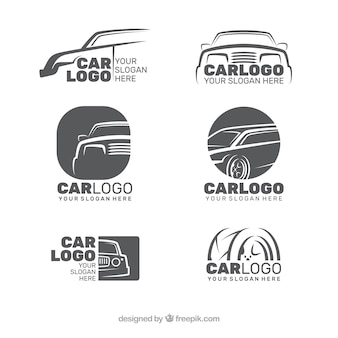 Grey car logo collection