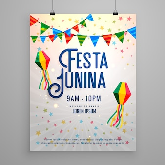 Grey festa junina poster
