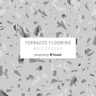 Grey flat terrazzo floor background