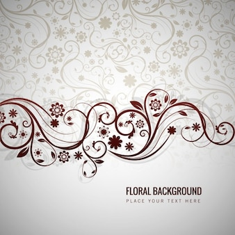 Grey floral background