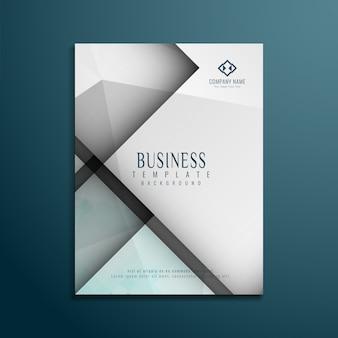 Grey geometric business brochure design