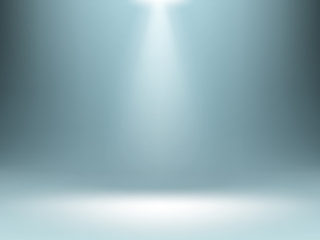 Grey gradient background, spotlights illumination