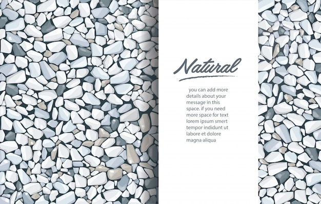 Grey gravel texture background template