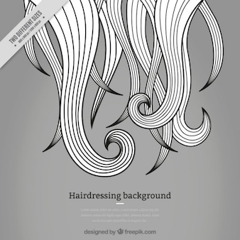 Серый парикмахерская фона