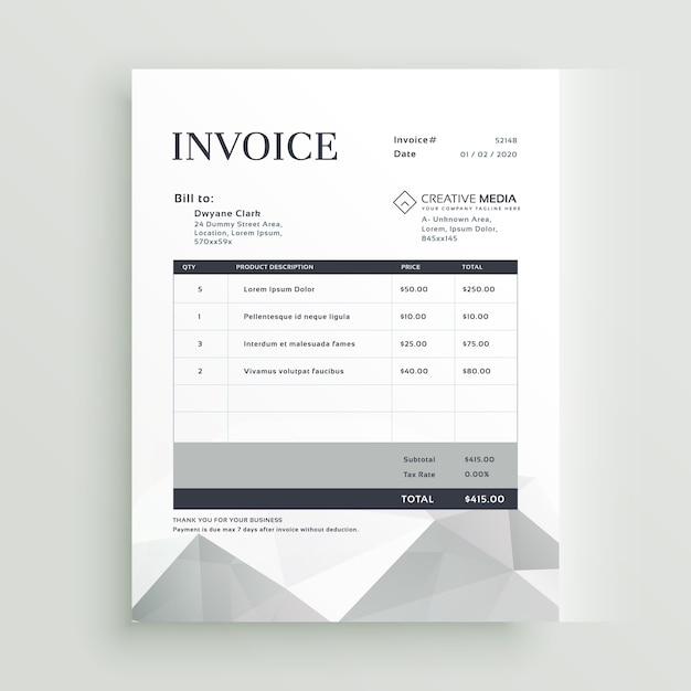 Invoice Psd Template Idealstalist