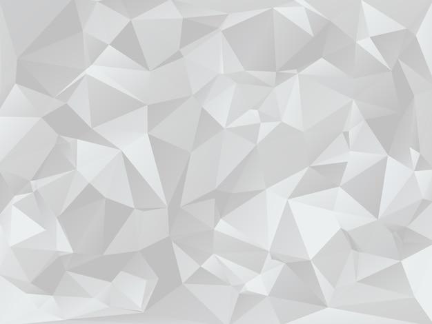 Grey low poly geometric background texture
