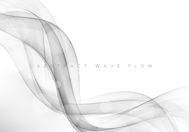 Grey modern abstract line layout gradient futuristic smooth swoosh certificate background.