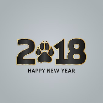 Grey modern new year 2018 design