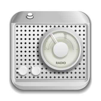 Grey radio isolated