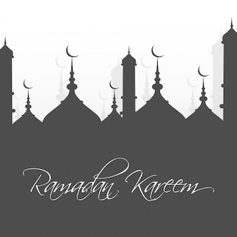 Grey ramadan kareem background