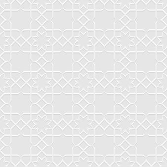 Grey seamless flower pattern in oriental style Premium Vector
