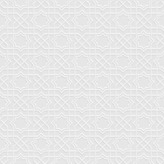 Grey seamless pattern  in arabian style Premium Vector