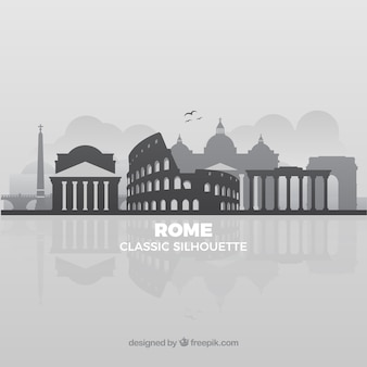 Grey skyline of rome