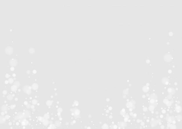 灰色の降雪シーズンイラスト