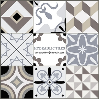 Grey tones geometric tiles