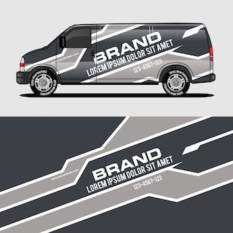 Grey van wrap design wrapping sticker and decal design