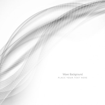 Grey wave abstract background Free Vector