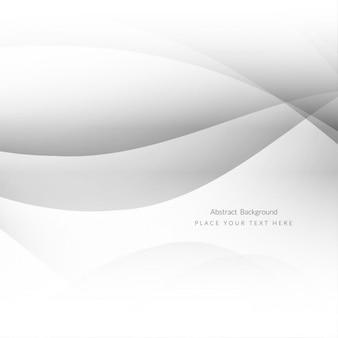 Grey waves background design