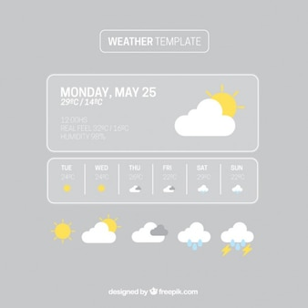 Grey weather template