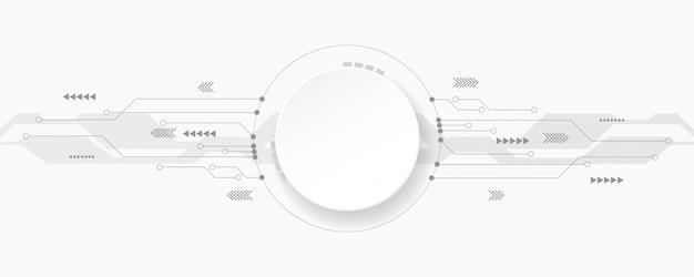 Серо-белый абстрактный фон технологии, hi tech digital connect, коммуникация, концепция высоких технологий, наука, технология фон