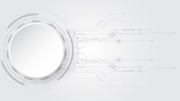 Grey white abstract technology background