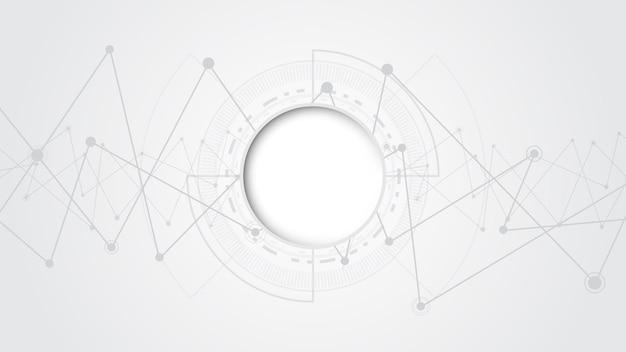 Серый белый абстрактный фон технологии