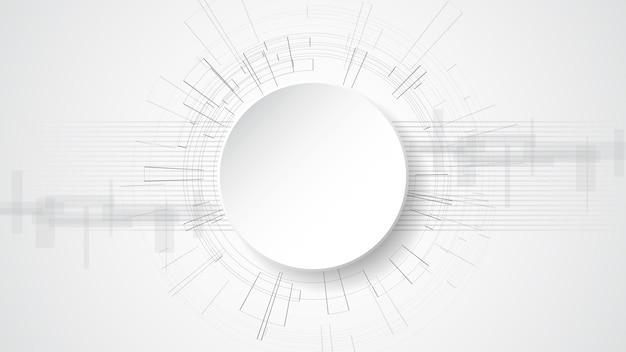 灰色の白い抽象的な技術の背景