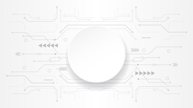 Grey white abstract technology