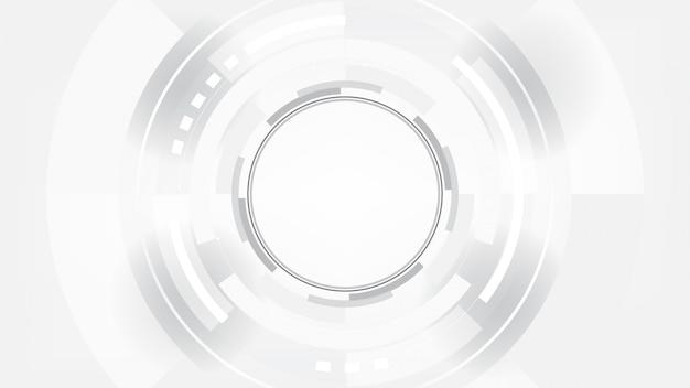 グレーホワイトアブストラクトテクノロジー
