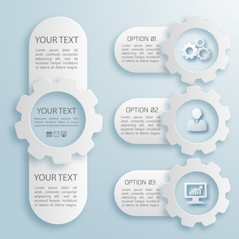 Grey and white color flat set of four abstract business infographic of different size with text field isolated