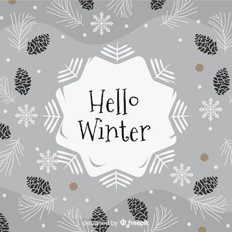 灰色の冬の背景