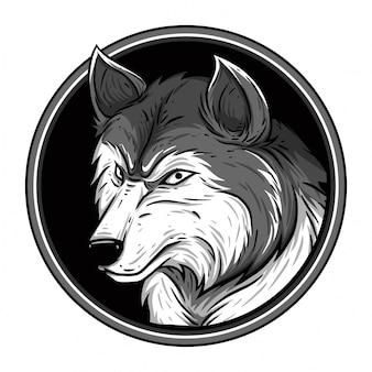 フレームの灰色オオカミ