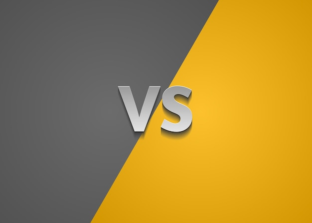 Grey and yellow versus background fighter screen vector illustration