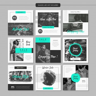 Greyscale Fashion Social Media Post Template