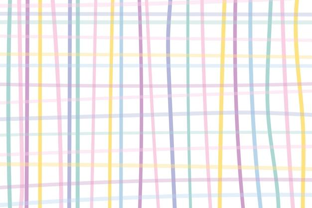 Grid background vector in cute pastel pattern