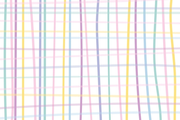귀여운 파스텔 패턴의 그리드 배경 벡터