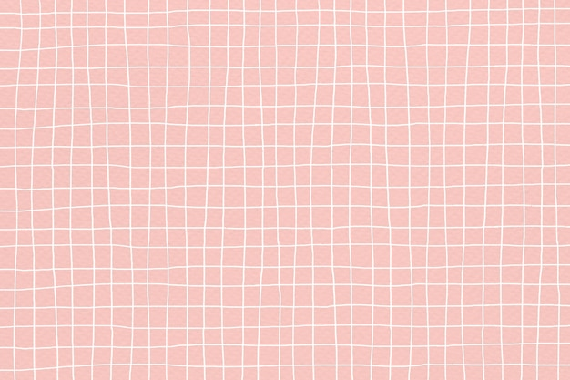 Grid background vector in pink color